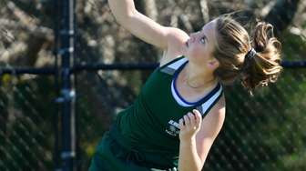Katelyn Stabile of West Hampton smashes her serve