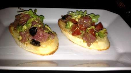 Tuna, avocado, tomato bruschetta at Ichiz in Huntington.
