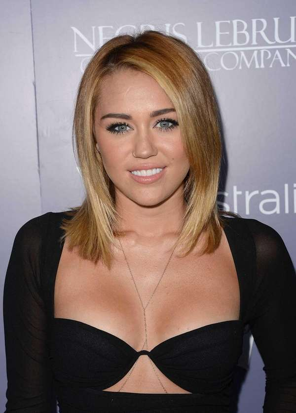 Actress Miley Cyrus arrives at the Australians In