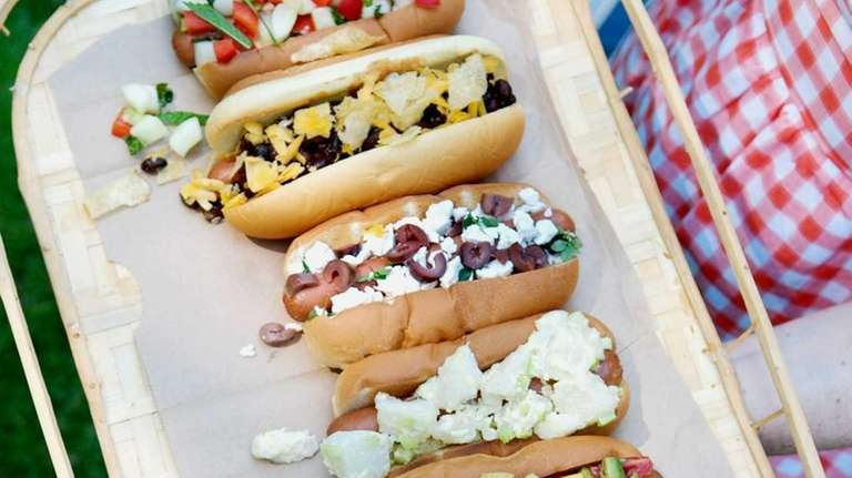 Lauran Chattman suggests topping hot dogs with, from