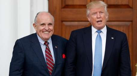 Rudy Giuliani with then-President-elect Donald Trump in 2016.