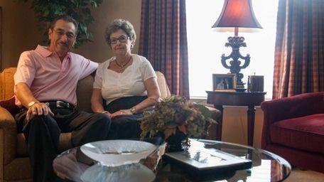 Paul and Linda Racano in their Riverhead home,