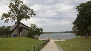 Ronkonkoma Beach at Lake Ronkonkoma. Ronkonkoma, flanked by