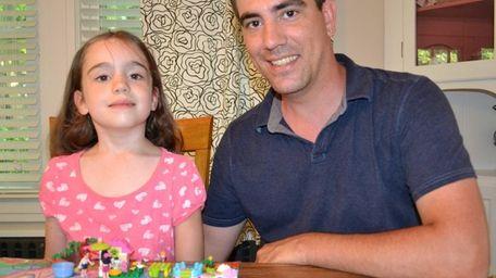 Sea Cliff's Adam Davison and daughter Norah, 5,