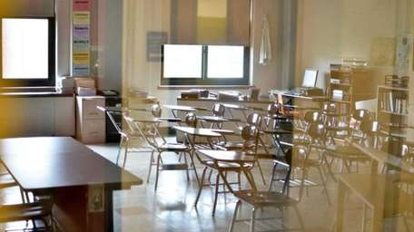 Classrooms across Long Island were empty on Thursday.