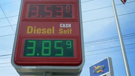 Gas prices at the Sunoco Station on Hempstead