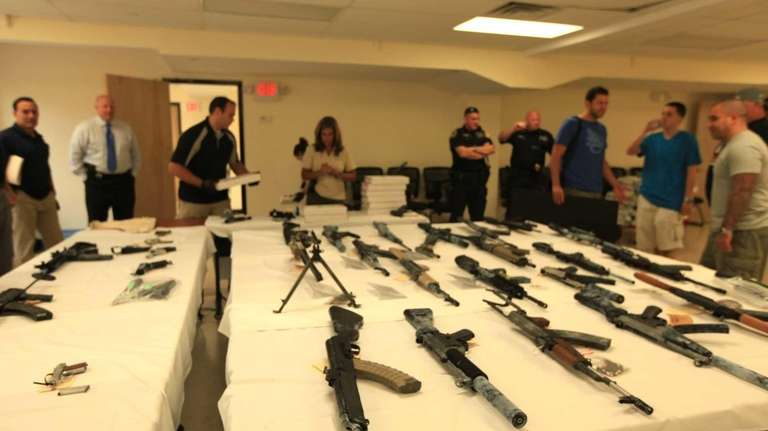 Here is another view of the weapons seized