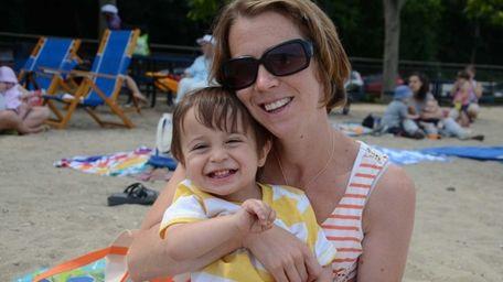 Lori Schneider, of Sea Cliff, with her son