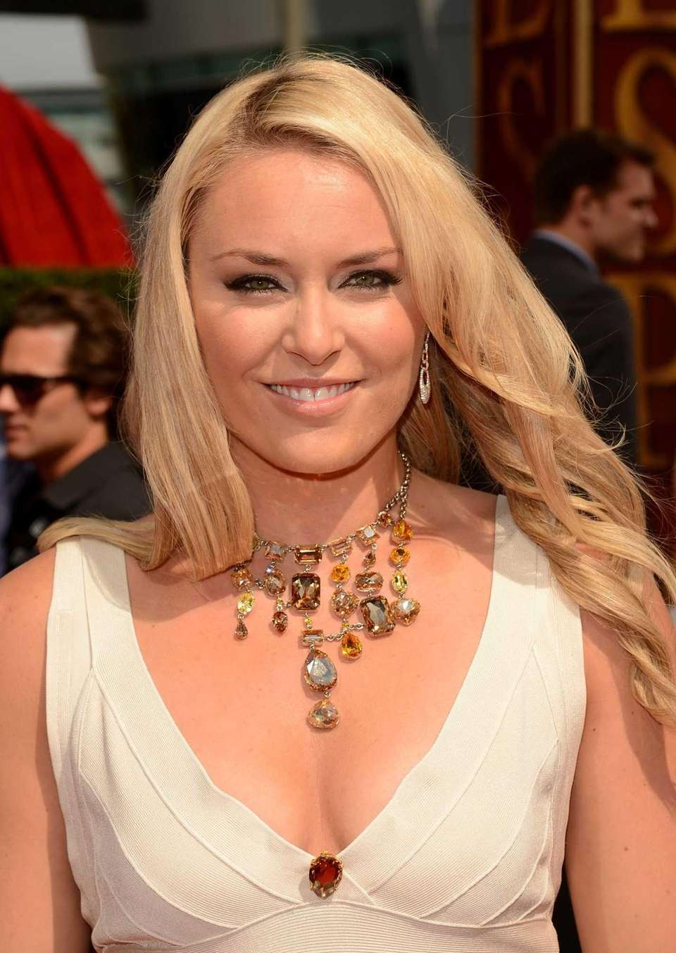 Olympic gold medalist Lindsey Vonn arrives at the
