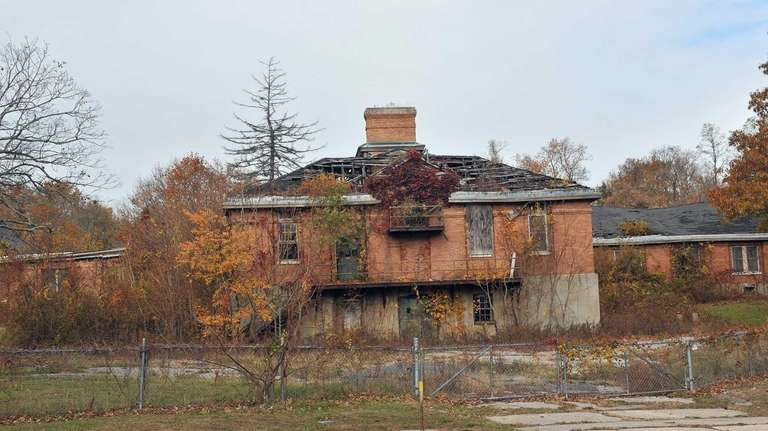 One of the dilapidated buildings on the grounds