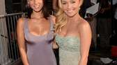 Actresses Olivia Munn, left, and Hayden Panettiere arrive