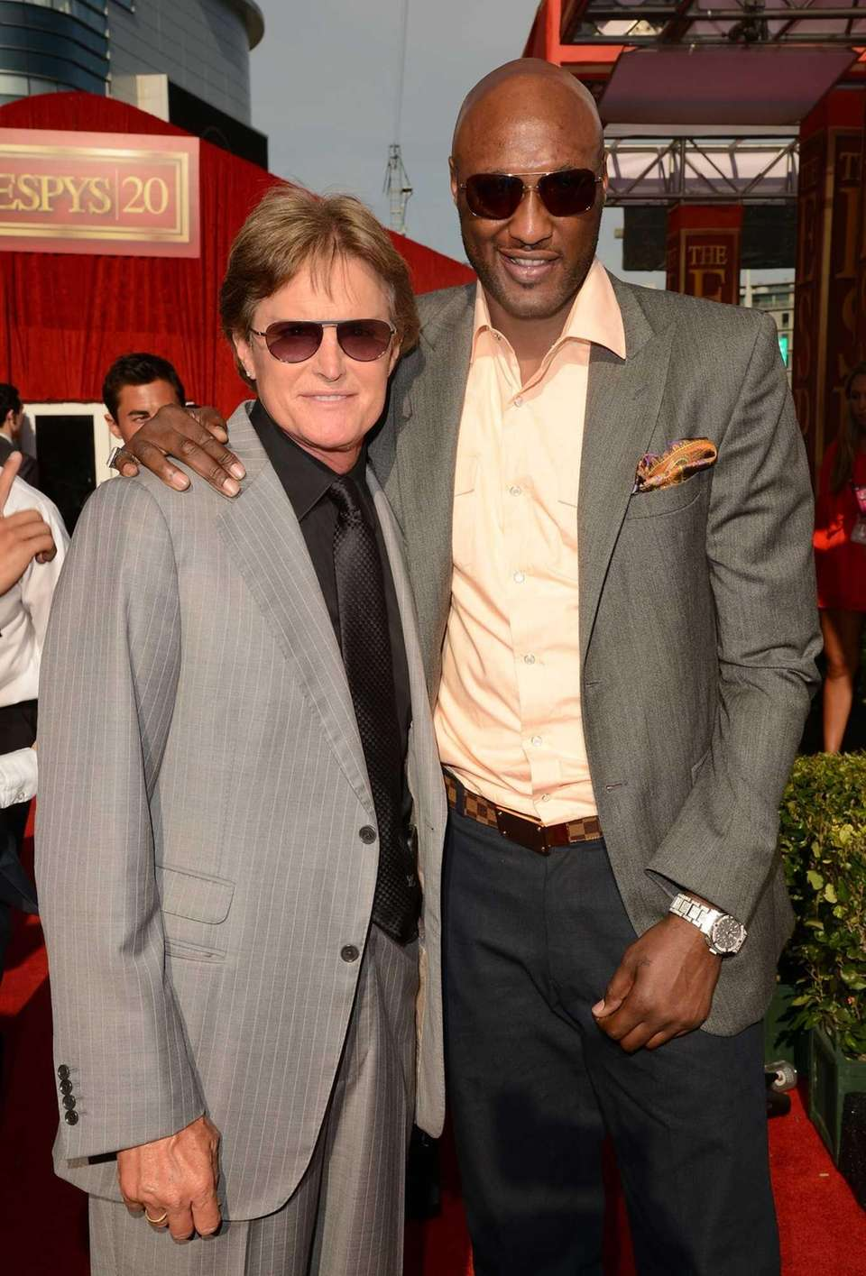 Bruce Jenner and his son-in-law, NBA player Lamar