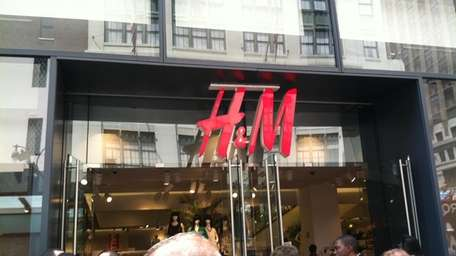 H&M store in Manhattan.