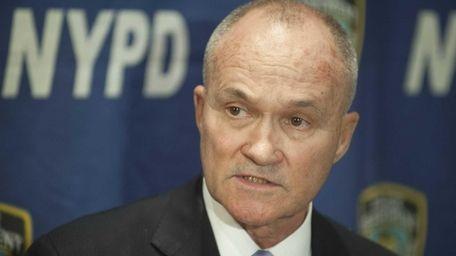 New York City Police Commissioner Raymond Kelly speaks