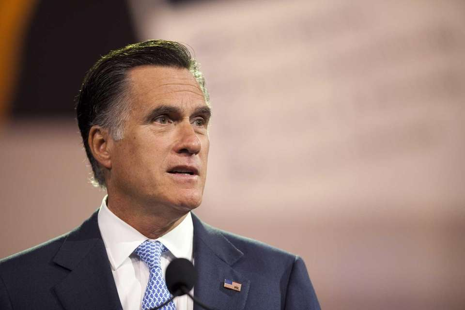 Republican presidential candidate and former Massachusetts Gov. Mitt