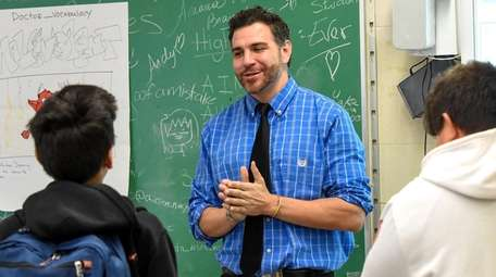 Milton L. Olive Middle School English teacher Joshua