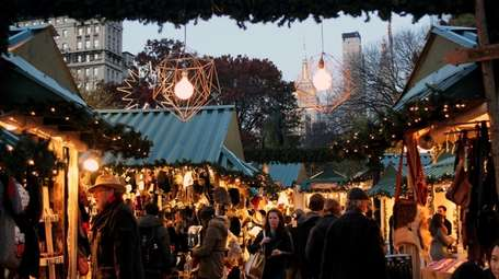 The holiday market in Union Square.