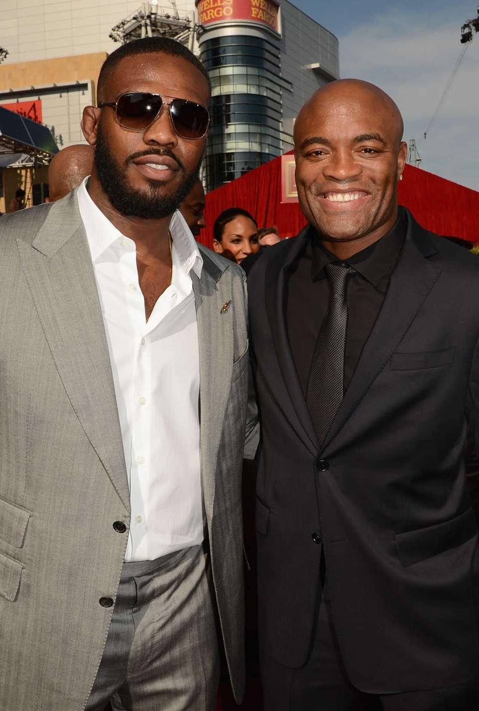 UFC Fighters Jon Jones and Anderson Silva arrive