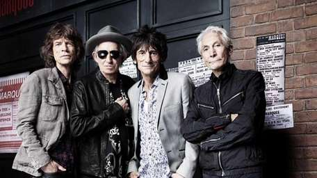 The Rolling Stones with Mick Jagger, left, Keith