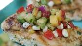GRILLED CHICKEN BREASTS WITH SUMMER VEGETABLE TOPPINGTaste the