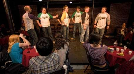 Friday Night Face Off players perform improv comedy