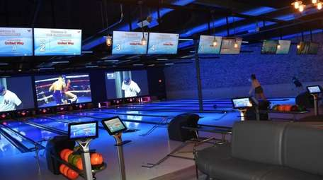 The bowling alley at The Clubhouse in East