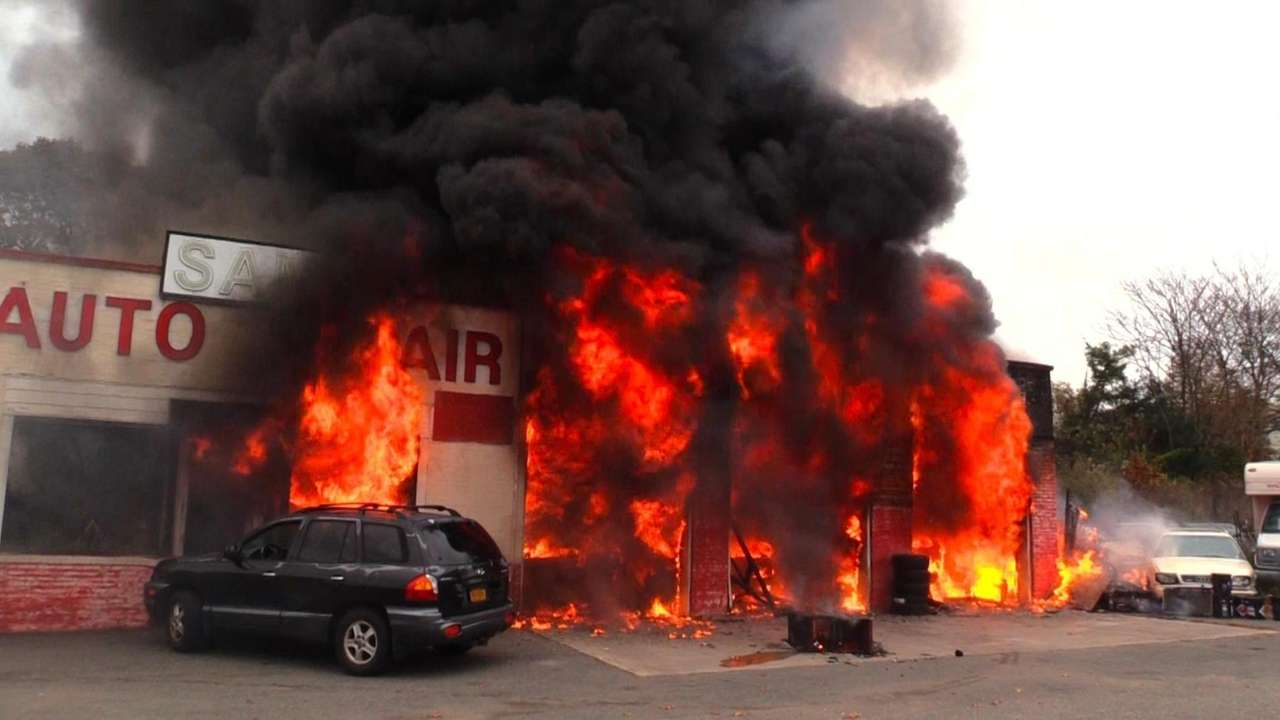 On Thursday, afire that engulfed an auto body