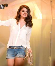 Selena Gomez on stage at the 2012 MuchMusic