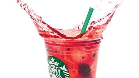 A Starbucks Refresher in very berry hibiscus.