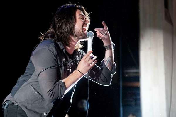 Lead singer Adam Lazzara of Taking Back Sunday