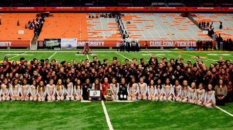 Mineola High School's marching band placed first in
