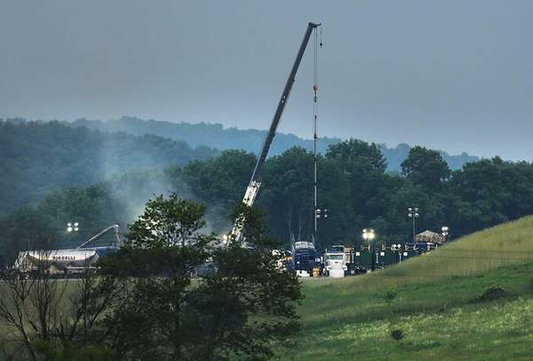 A hydraulic fracturing site in South Montrose, Pennsylvania.