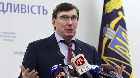 Ukraine's former Prosecutor General Yuriy Lutsenko in March.