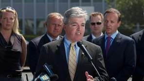 Suffolk County Executive Steve Bellone speaks at a