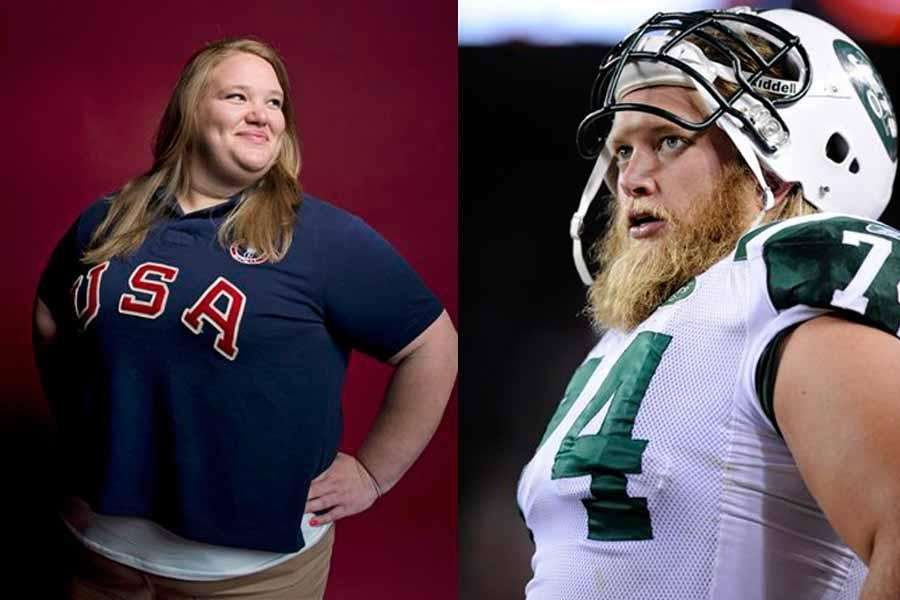 HOLLEY and NICK MANGOLD Nick's used to media