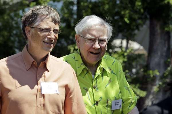 Bill Gates and Warren Buffett at Allen &