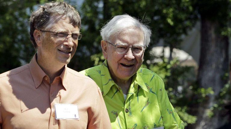 Bill Gates and Warren Buffett at Allen &