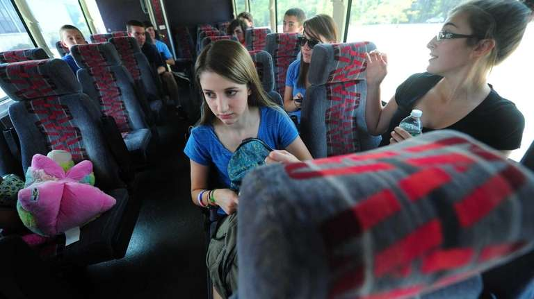 Juliette Scauso, 15, aboard the bus that will
