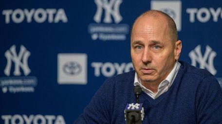 Yankees GM Brian Cashman speaks at post-season news