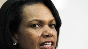 Former Secretary of State Condoleezza Rice speaks at