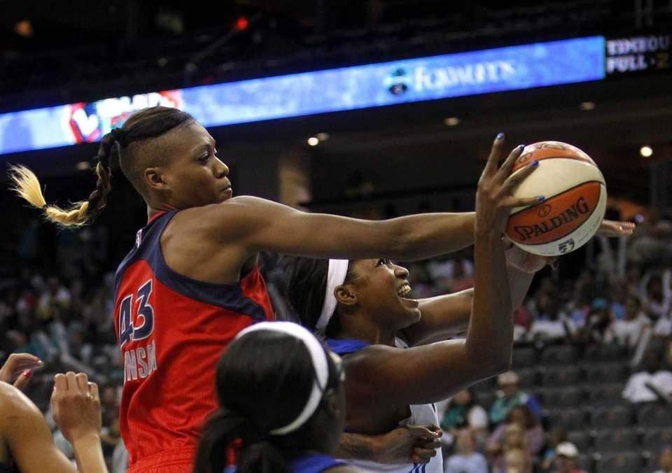 New York Liberty's DeMya Walker has a shot