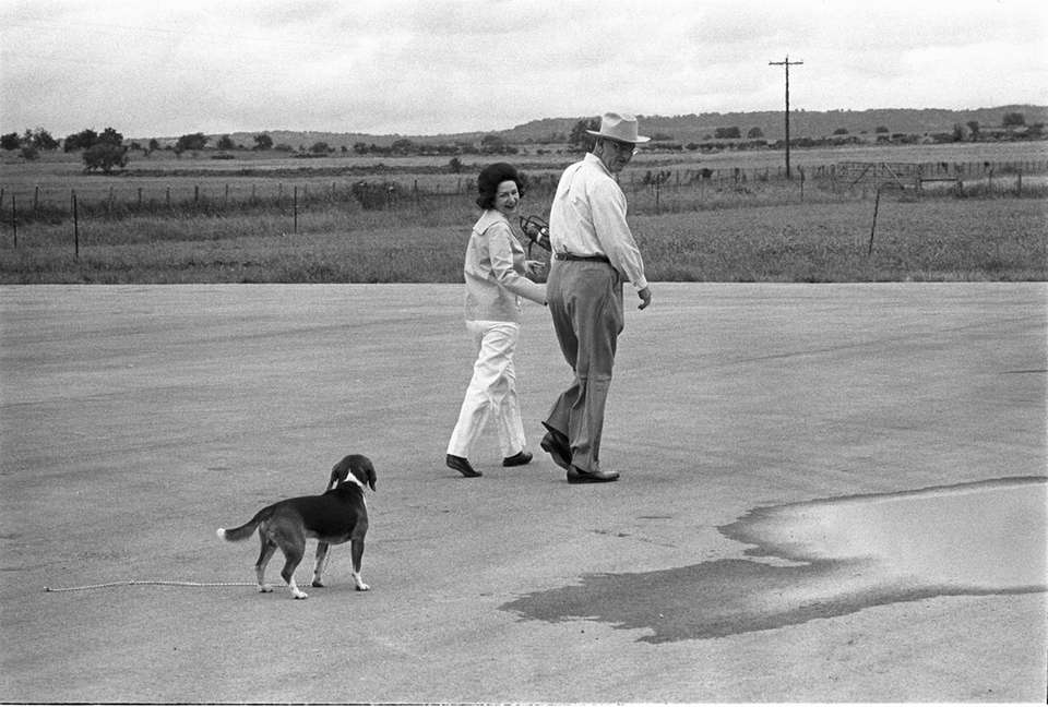 President Lyndon B. Johnson and his wife, Lady