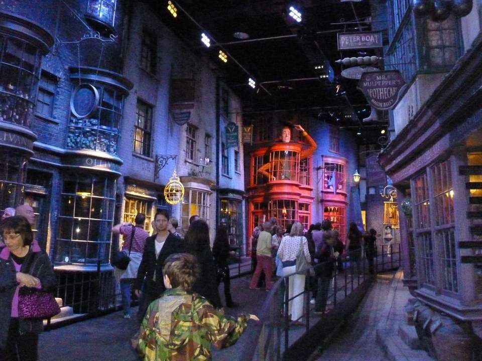 Diagon Alley -- the wizarding shopping center in