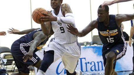 Brooklyn Nets' MarShon Brooks (9) drives to the