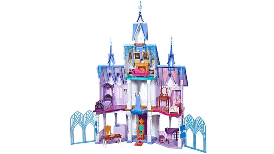 Standing five-feet-tall and four-feet-wide, this Arendelle castle playset
