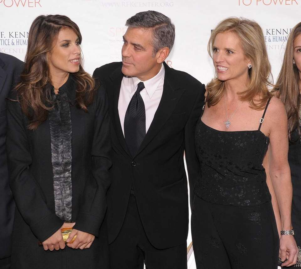 From left, Elisabetta Canalis, George Clooney and Kerry