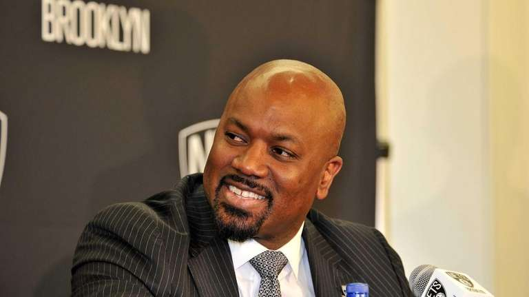 Brooklyn Nets general manager Billy King introduces his