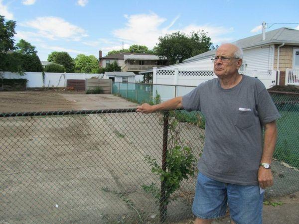Gaetano Romano at the property next door to