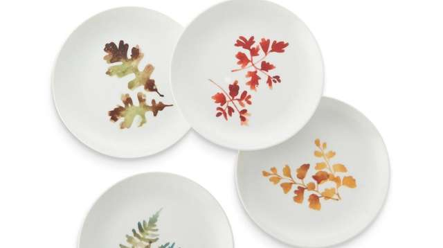 Appetizer plates from Crate and Barrel.