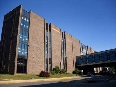 Exterior of Hempstead High School on July 10,
